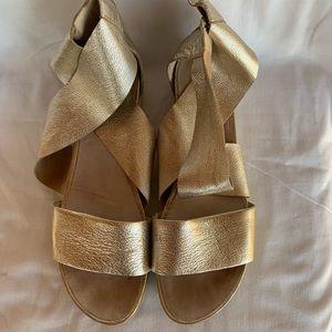 Eileen Fisher Gold Sport Sandal